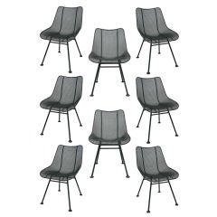 Set of Eight Woodard Chairs