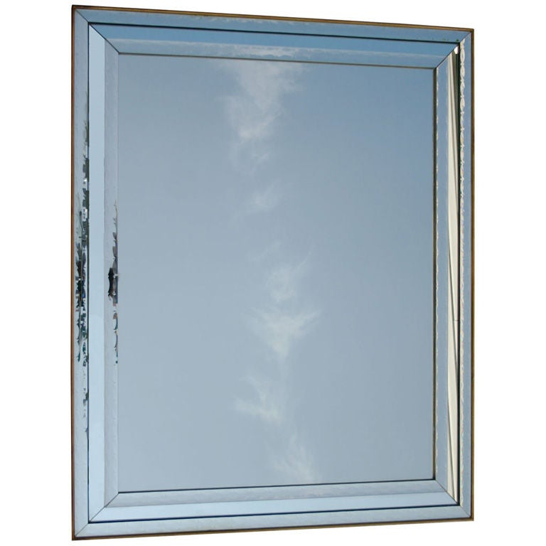 Large venetian glass mirror at 1stdibs for Tall glass mirror