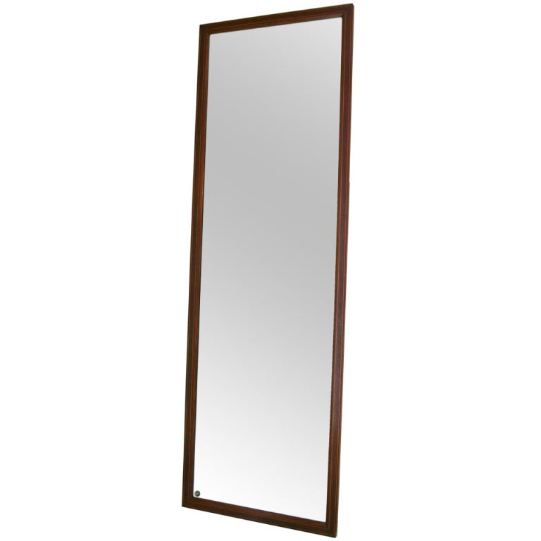 Paolo buffa style full length mirror at 1stdibs for Vintage floor length mirror