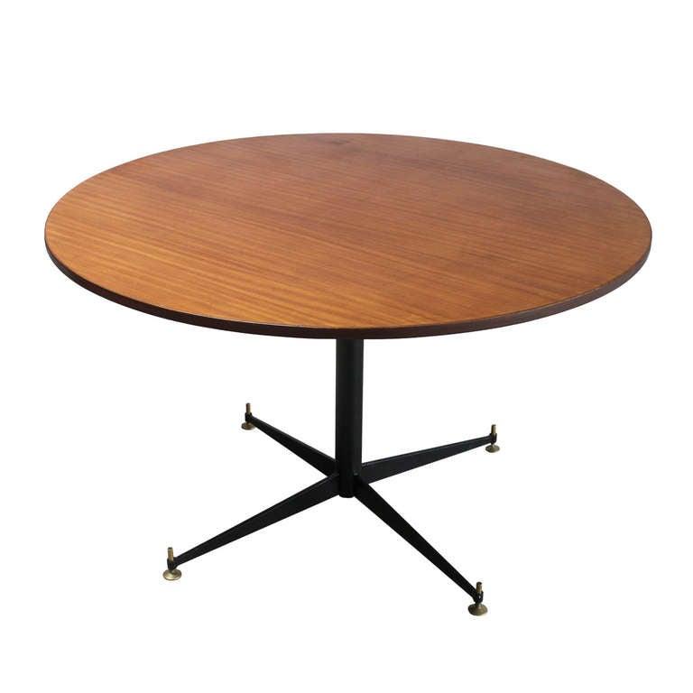 Italian Pedestal Table, style of Osvaldo Borsani