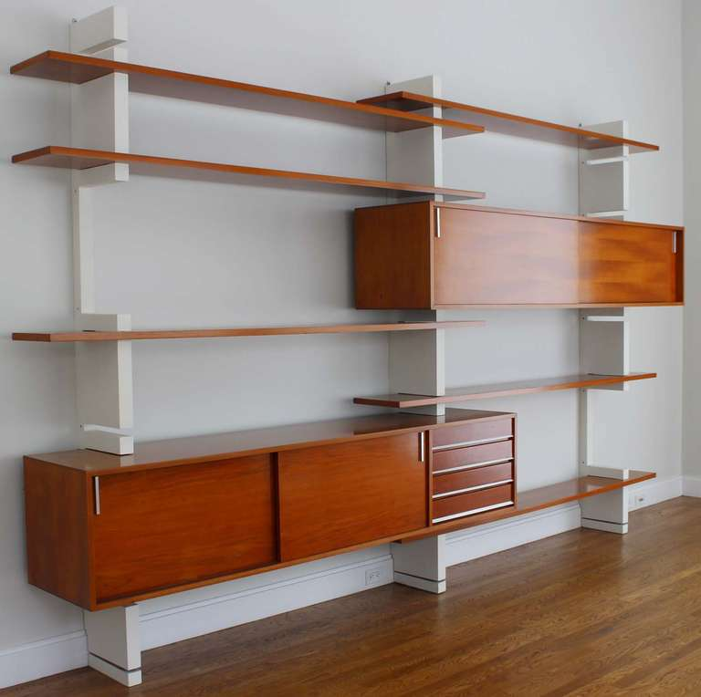 Mid Century Modern Amma Wall Unit For Sale