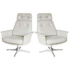 Pair Italian Swivel Chairs