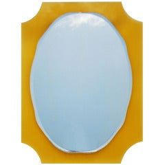 Italian Yellow Glass Mirror