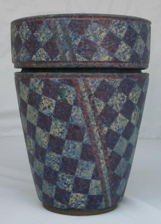 American Stoneware Double Vase For Sale