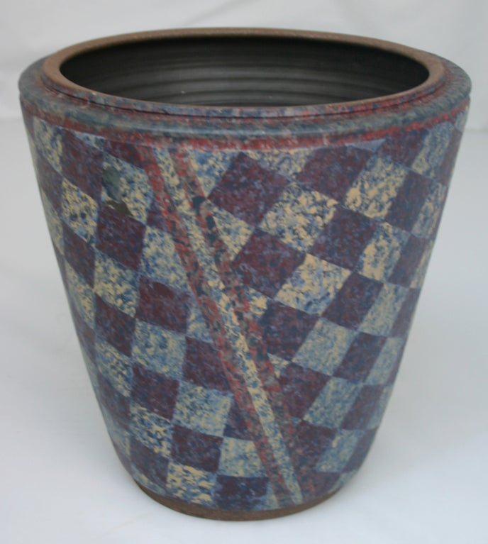 Ceramic Stoneware Double Vase For Sale