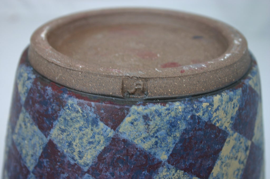 Stoneware Double Vase For Sale 1