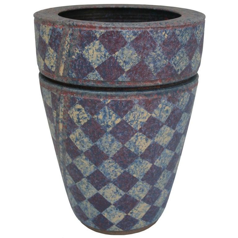 Stoneware Double Vase For Sale