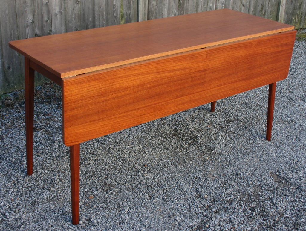 Danish Drop Leaf Dining Table At 1stdibs