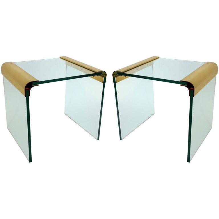 Pair Pace Side Tables For Sale