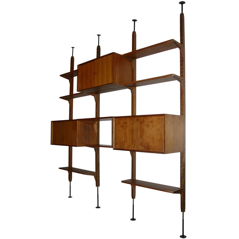 Danish Freestanding Wall Unit