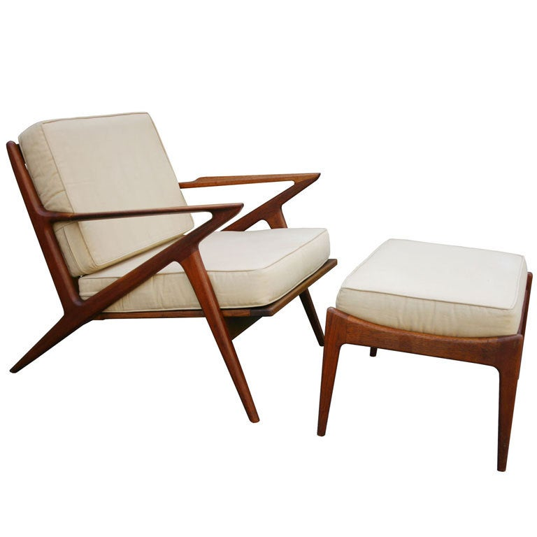 Poul jensen z chair and ottoman at 1stdibs for Poul jensen z chair