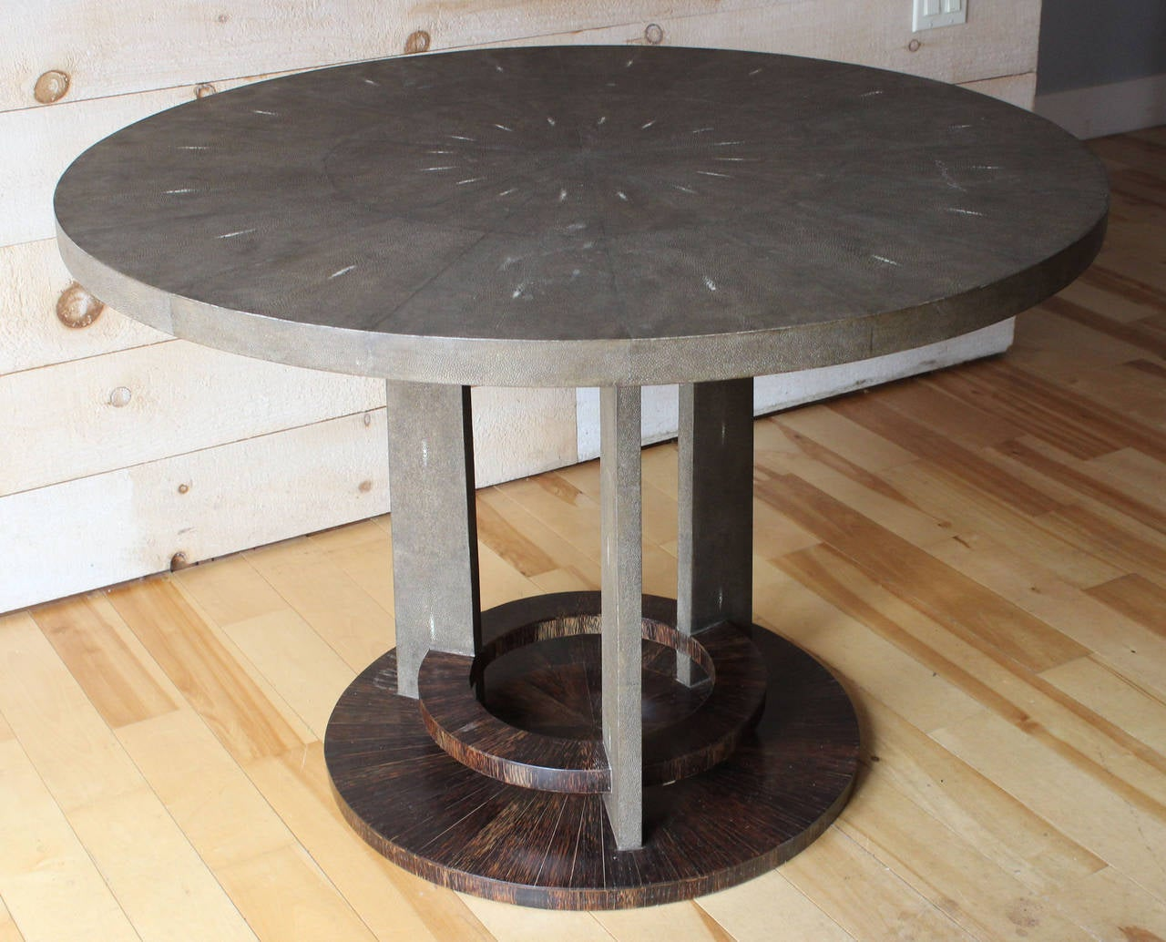 R U0026 Y Augousti Shagreen Table And Stools 2