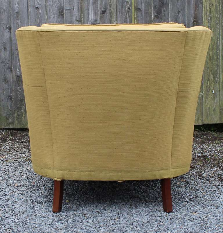 Pair Modern Regency Armchairs with Ottoman In Excellent Condition For Sale In Southampton, NY