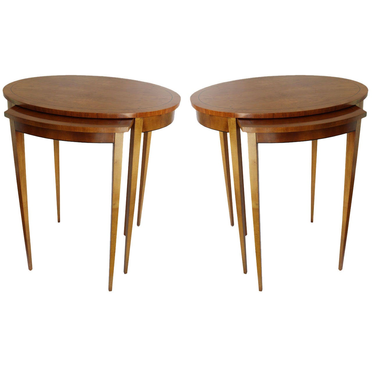 Pair Of Baker Nesting Side Tables At 1stdibs. Full resolution‎  image, nominally Width 1280 Height 1280 pixels, image with #AC5410.