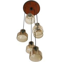 Danish Six Lamp Pendant
