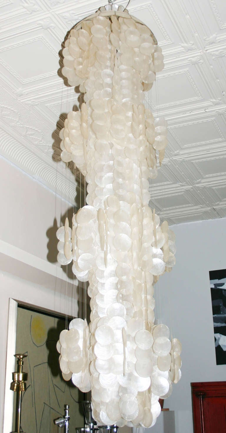 Capiz Shell Chandelier at 1stdibs