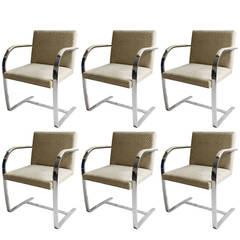 Set of Six BRNO Armchairs