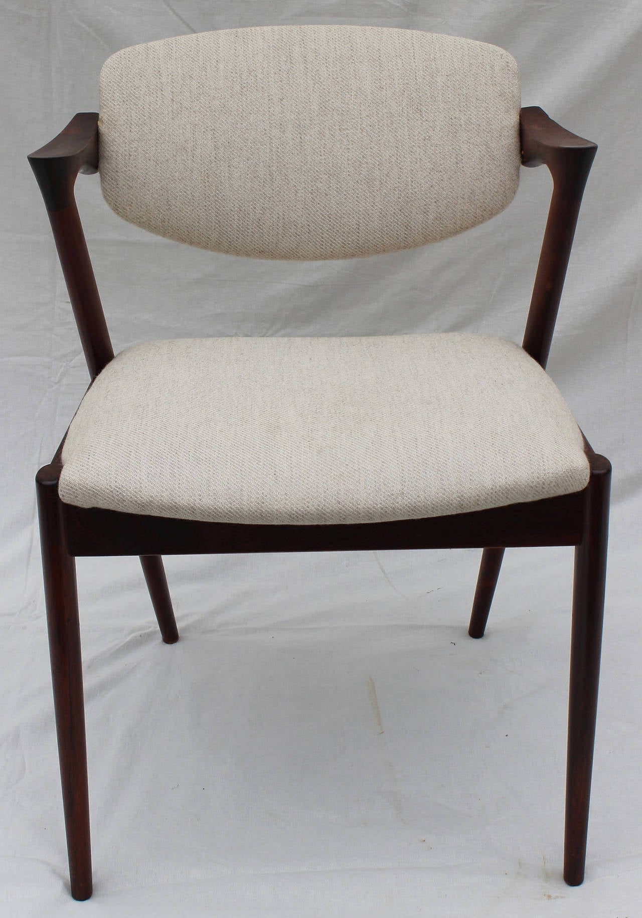 Six Kai Kristiansen Rosewood Dining Chairs At 1stdibs