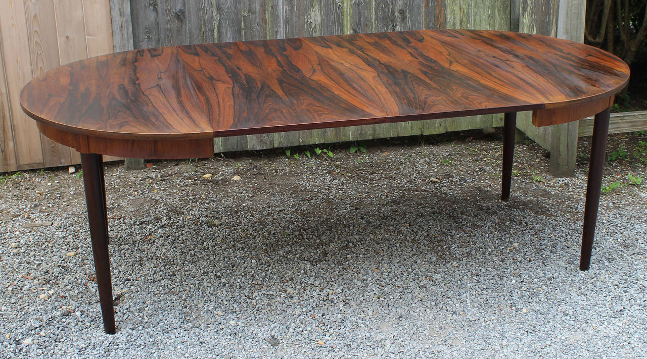 Rosewood Dining Table Kai Kristiansen Rosewood Dining Table At 1stdibs