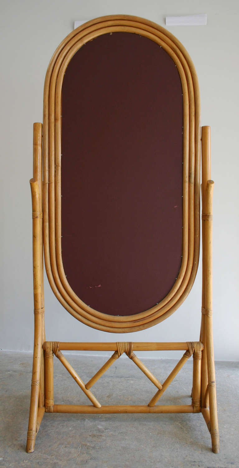 Rattan cheval mirror at 1stdibs for Cheval mirror