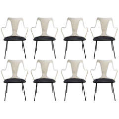Set of Eight Salterini Dining Chairs