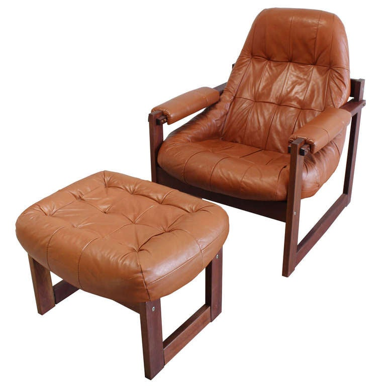 Beau Percival Lafer Chair And Ottoman For Sale