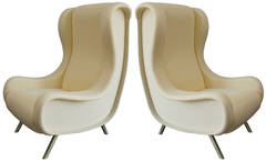 Pair of Marco Zanuso Señor Chairs