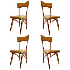 Set of Four Highback Italian Dining Chairs