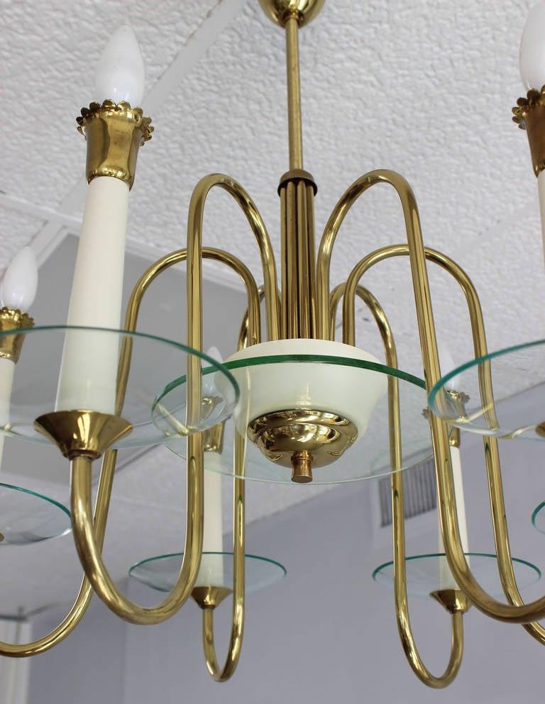 Italian Fontana Arte Style Chandelier For Sale