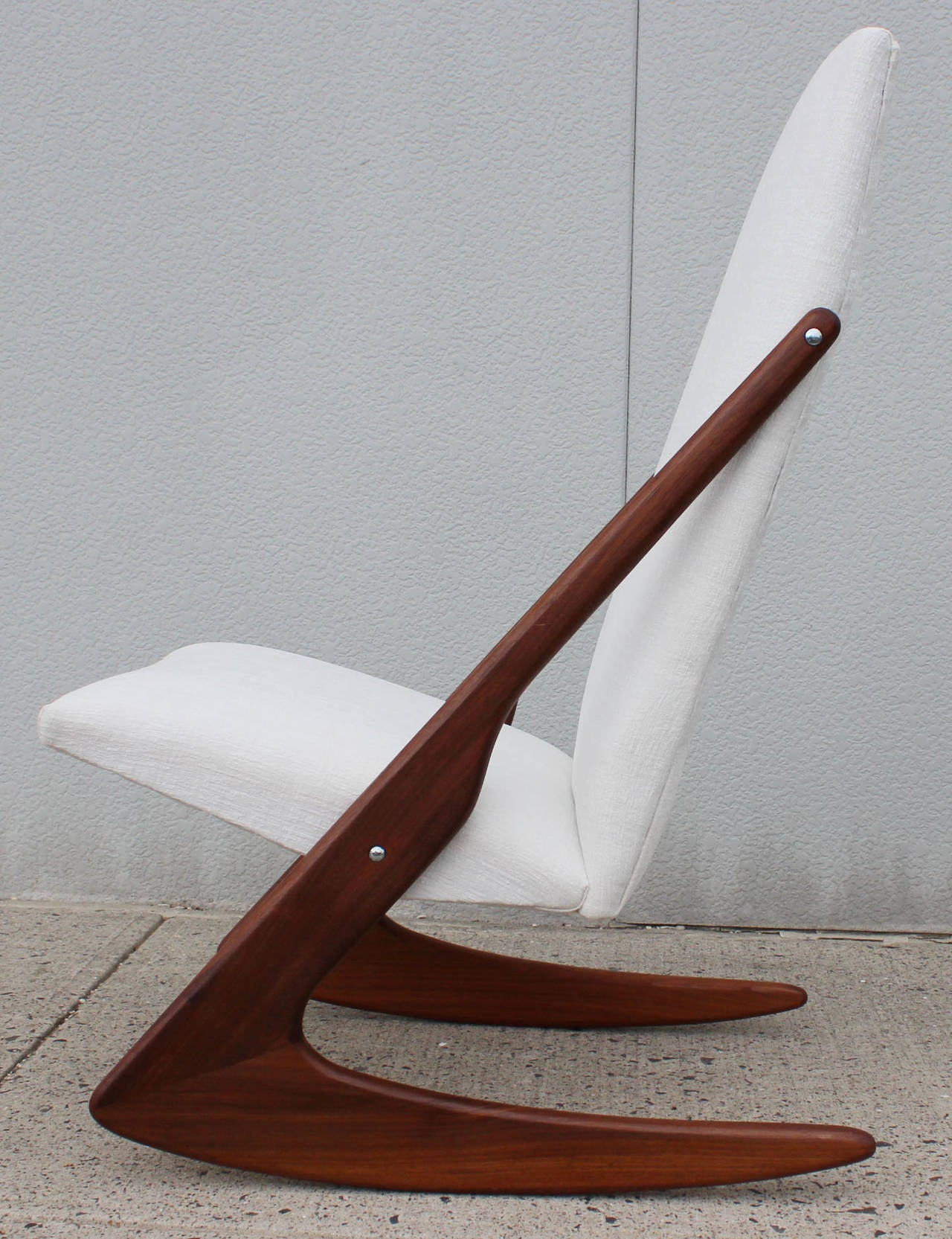 Mogens Kold Boomerang Rocking Chair At 1stdibs