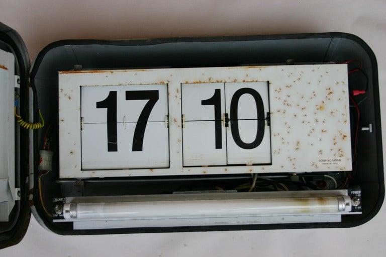 Mid-20th Century Solari di Udine Flip Clock For Sale