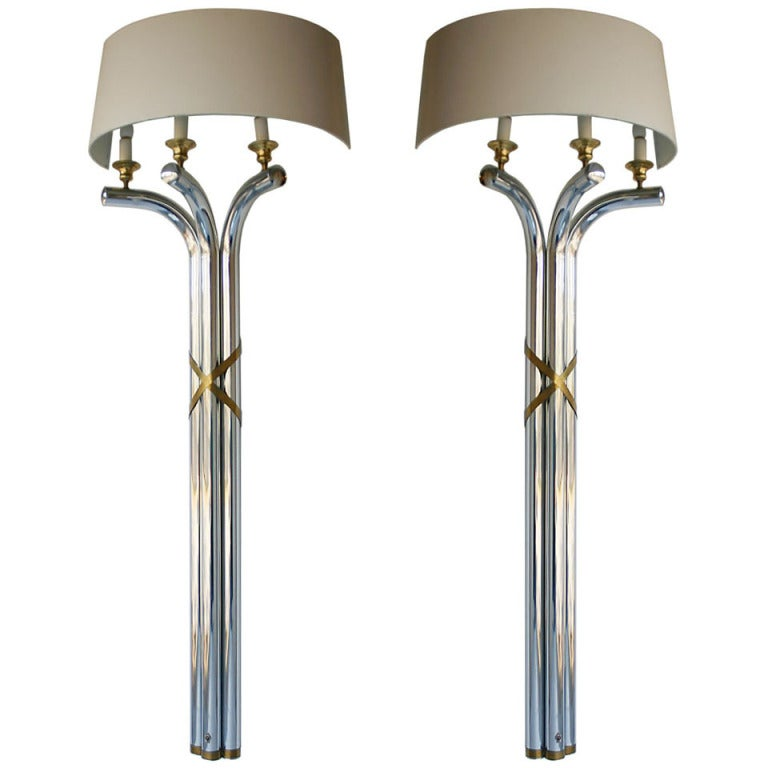 Chandelier Style Wall Sconces : Pair Regency Style Wall Lamps For Sale at 1stdibs