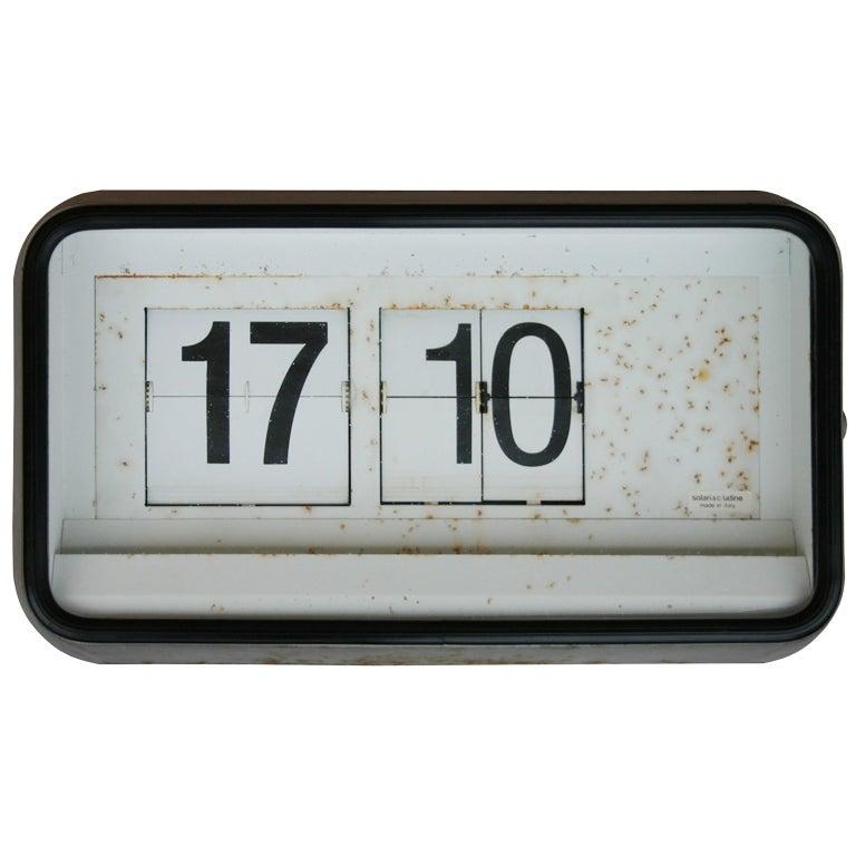 Solari Di Udine Flip Clock For Sale At 1stdibs