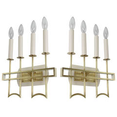 Pair of Italian Solid Brass Sconces
