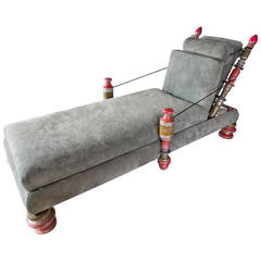 Phillip Lloyd Powell, Unique Custom Chaise Longue, USA, circa 1960s