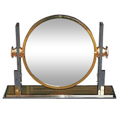 Large Convex Mirror by Karl Springer, USA, c. 1980s