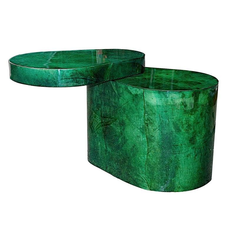 Emerald Green Goatskin Table By Karl Springer Usa Ca