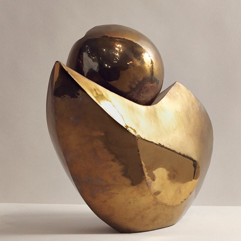 Late 20th Century Maté Lapierre, Unique Bronze Sculpture, France, circa 1970s For Sale