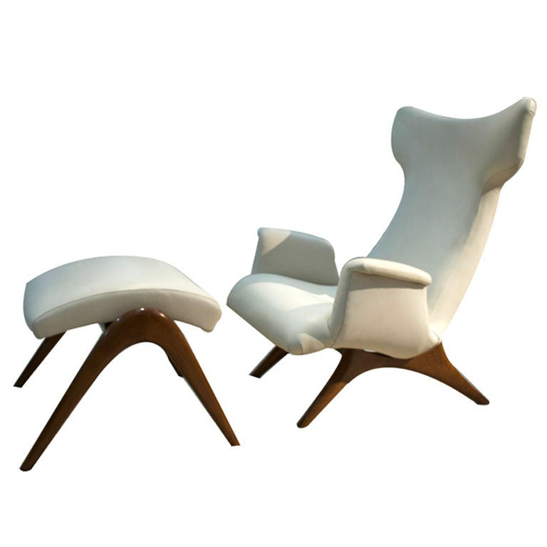 Wing Lounge Chair By Vladimir Kagan At 1stdibs