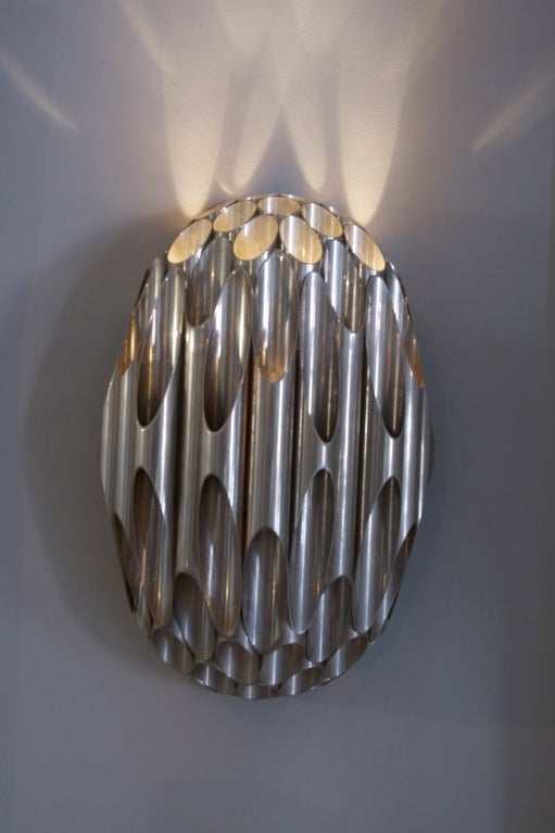Pair of Maison Charles Honeycomb Sconces, France, circa 1968 3