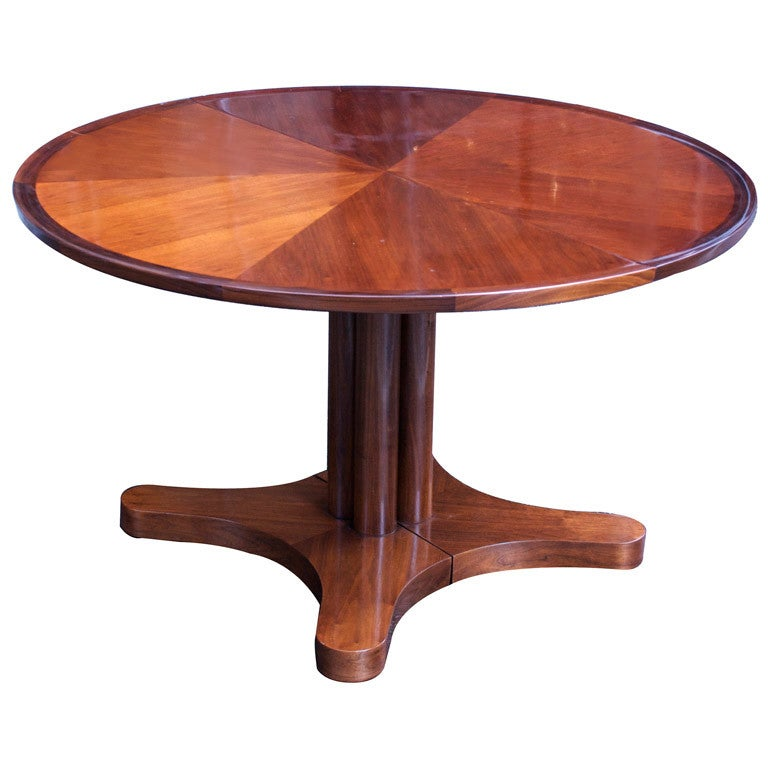 Round 4 39 10 39 Extension Dining Table By Edward Wormley For Dunbar At 1