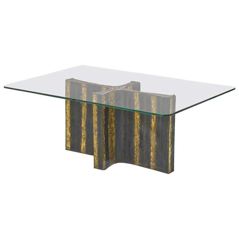 Paul Evans Welded Steel Dining Table Usa 1965 For Sale