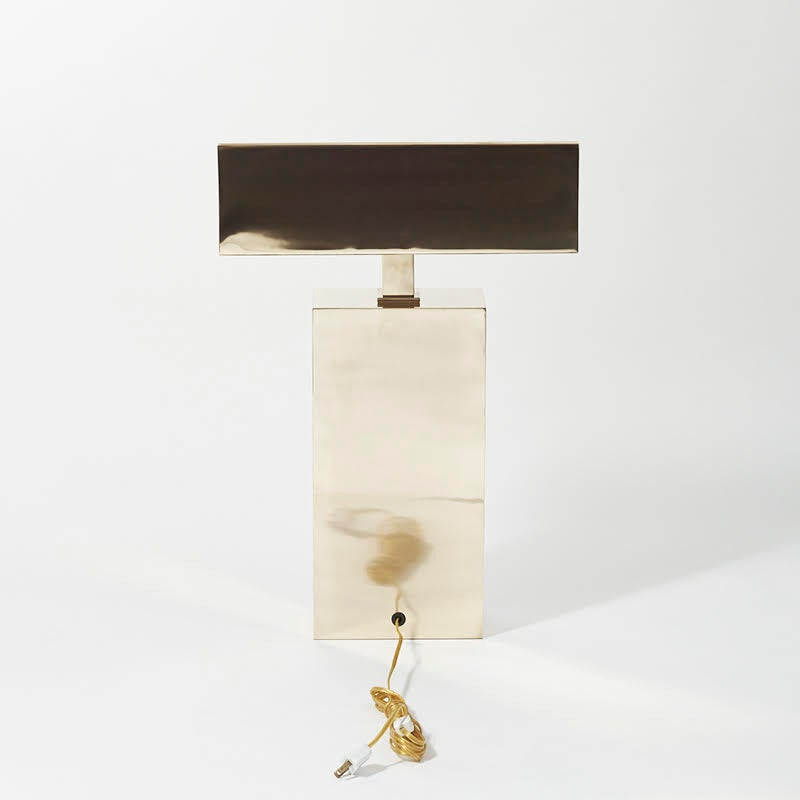 Karl Springer, Brass Sculpture Desk Lamp, USA, circa 1970s 2