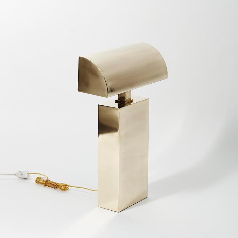 Karl Springer, Brass Sculpture Desk Lamp, USA, circa 1970s 3