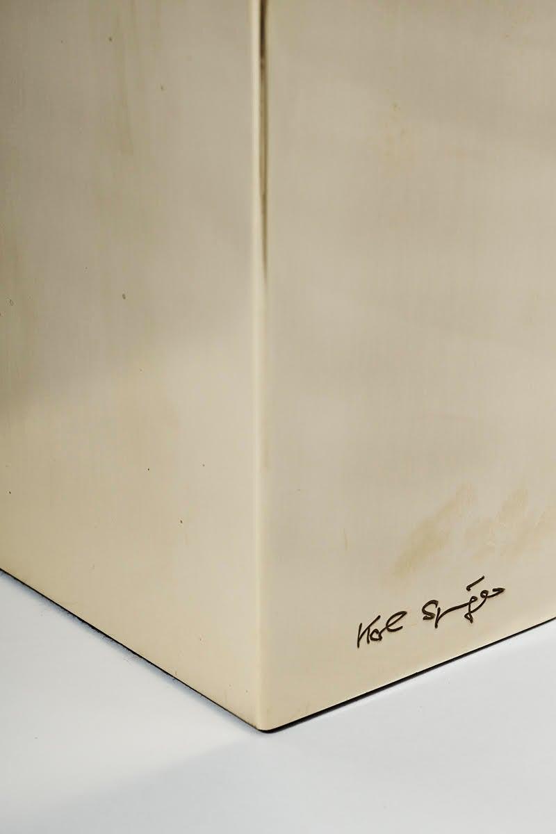 Karl Springer, Brass Sculpture Desk Lamp, USA, circa 1970s 6