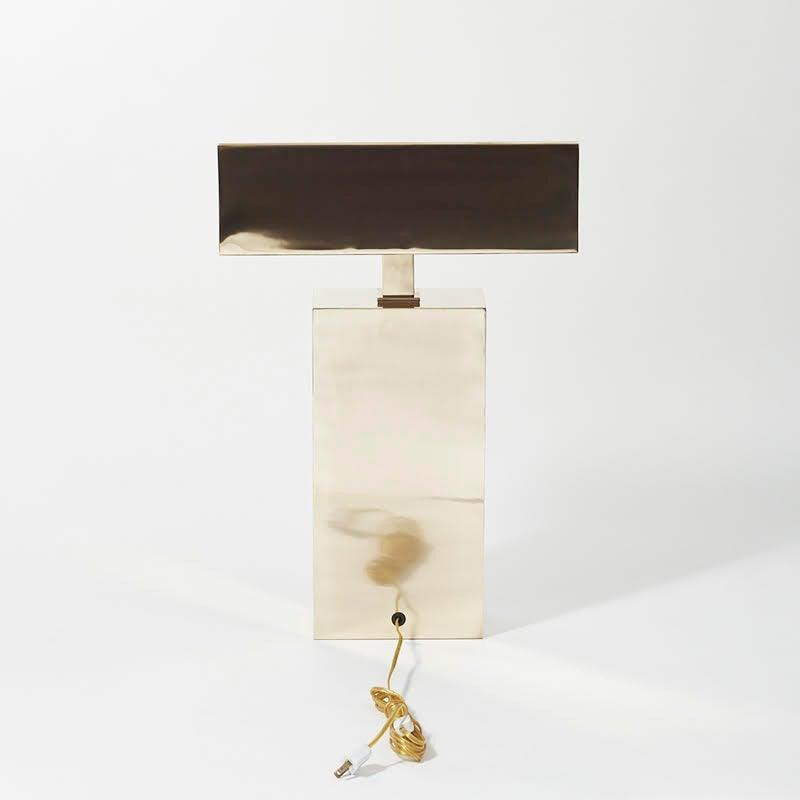 Karl Springer, Brass Sculpture Desk Lamp, USA, circa 1970s 7