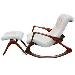 Rocking Chair and Ottoman by Vladimir Kagan. c. 1950s