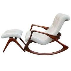 Rocking Chair and Ottoman by Vladimir Kagan. c. 1950s