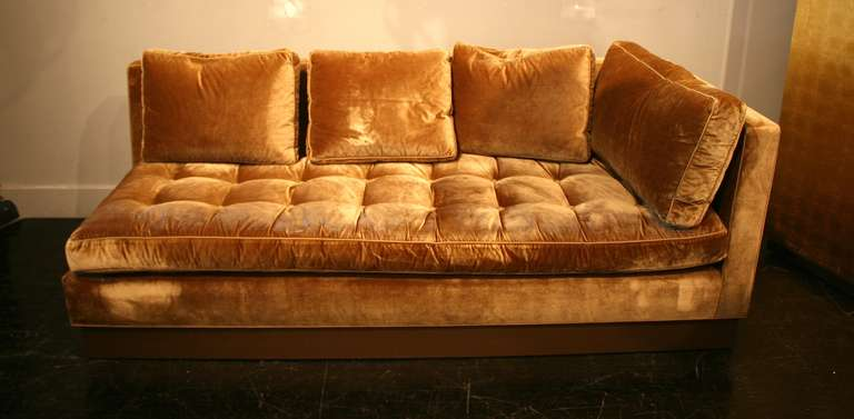 Custom Gold Silk Velvet Sectional Sofa Usa 2000 At 1stdibs