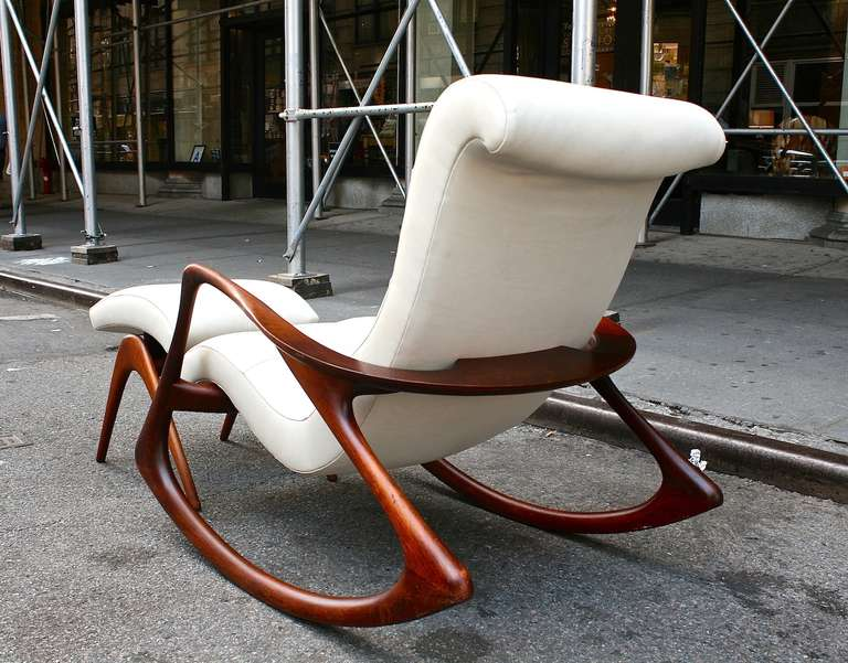 rocking chair with ottoman Rocking Chair and Ottoman by Vladimir Kagan. c. 1950s at 1stdibs rocking chair with ottoman